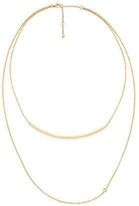 H.Stern Yellow Gold and Diamond Geometric Code Necklace
