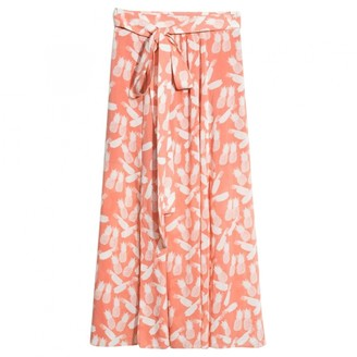 And other stories & Stories Orange Cotton Skirt for Women