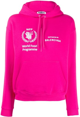 Balenciaga World Food Programme shrunk hoodie