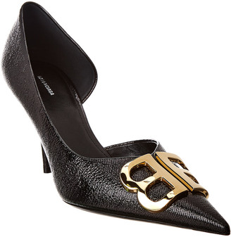 Balenciaga Bb Pointed Toe Leather Pump