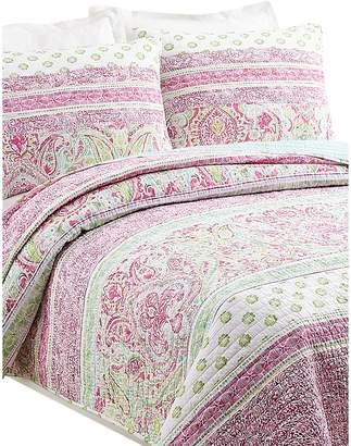 Jessica Simpson Palm Beach 140-Thread Count Cotton 3-Piece Quilt Set