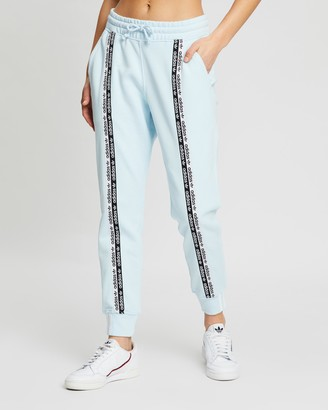 adidas Women's Blue Sweatpants - R.Y.V. Cuff Pants - Size 6 at The Iconic