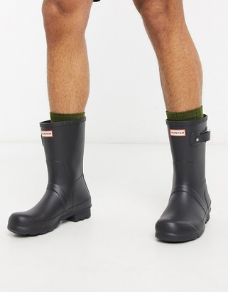 Hunter short wellies in black