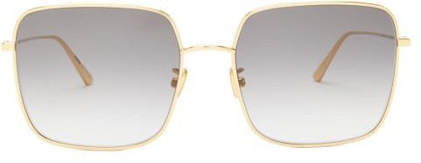 Christian Dior Diorstellaire Square Metal Sunglasses - Grey Gold