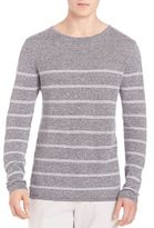 Strellson Roundneck Striped Silk Blend Sweater