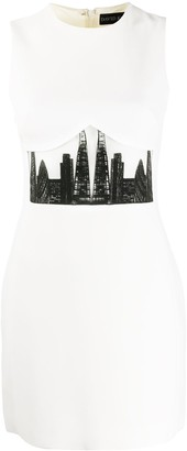 David Koma London skyline dress