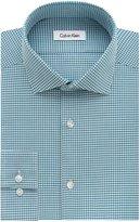 Calvin Klein Men's Slim Fit Non Iron Textured Gingham Shirt