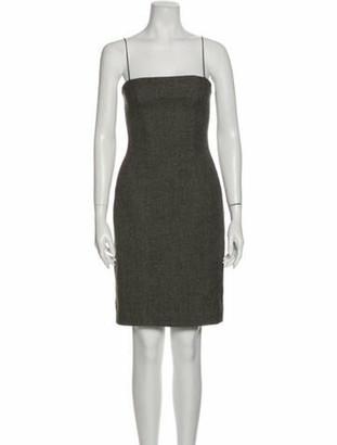 Bottega Veneta Square Neckline Mini Dress Brown
