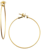Paul Morelli 18k Yellow Gold Diamond Cluster Hoop Earrings, 40mm