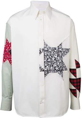 Calvin Klein embellished patchwork shirt