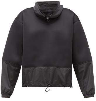 adidas by Stella McCartney Run Contrast-panel Sweatshirt - Womens - Black
