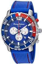 Tommy Bahama Men's Quartz Stainless Steel and Rubber Casual Watch, Color:Blue (Model: TB00007-01)