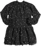 MSGM Stars Printed Silk Chiffon Dress