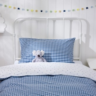The White Company Classic Pillowcase, Blue, Standard
