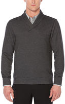 Perry Ellis Big and Tall Heathered Shawl Pull-Over