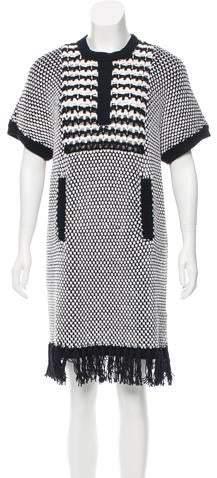 Thakoon Fringe-Trimmed Knit Dress