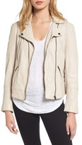 Cupcakes And Cashmere Women's Darby Leather Moto Jacket