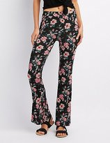 Charlotte Russe Floral Print Flare Pants