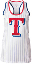 5th & Ocean Women's Texas Rangers Pinstripe Glitter Tank Top