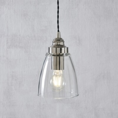 The White Company Aldeburgh Small Ceiling Light, Clear, One Size