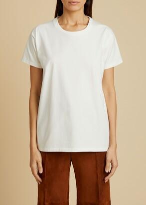 KHAITE The Brady T-Shirt in White