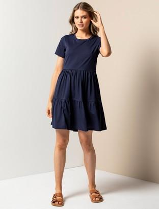 Forever New Sallie Smock T-Shirt Dress - Navy - 4