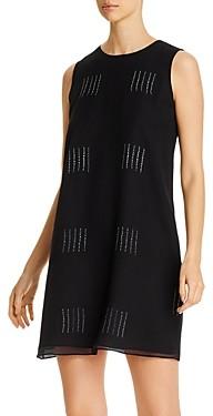 Eileen Fisher Silk Shibori Sleeveless Printed Dress