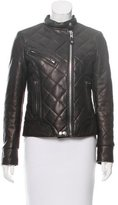 Schott NYC Leather Quilted Jacket