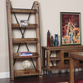 """American Furniture Classics Industrial 81"""" Leaning Bookcase"""