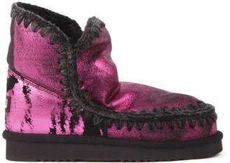 Mou Eskimo 18 Fuxia Metallic Leather Ankle Boots