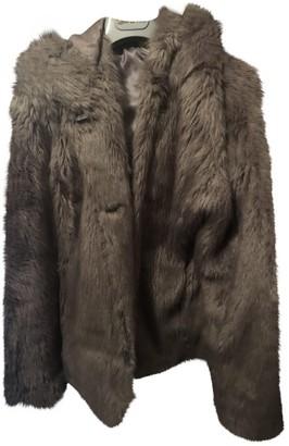 Gas Jeans Grey Faux fur Coats