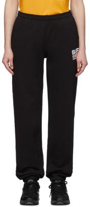 Sporty and Rich Black Flag Logo Lounge Pants