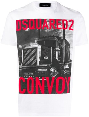 DSQUARED2 Convoy logo printed T-shirt