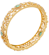 Rina Limor Fine Jewelry 18K Yellow Gold, Emerald & 6.61 Total Ct. Champagne Diamond Bangle Bracelet
