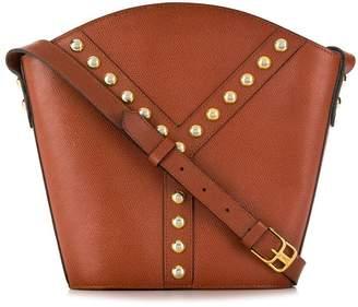 Saint Laurent Pre-Owned studded bucket shoulder bag