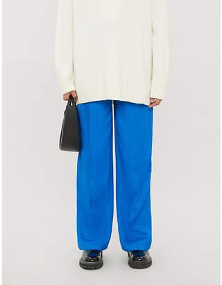 Joseph Quarius wide-leg stretch-twill trousers