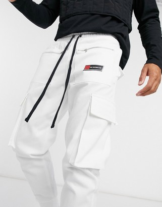 The Couture Club utility cargo pants in white