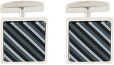 HUGO BOSS striped cufflinks