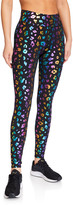 Terez Foiled Rainbow Cheetah Leggings
