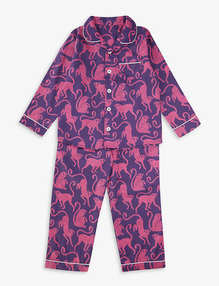 Desmond & Dempsey Chango Monkey organic cotton pyjama set 2-9 years