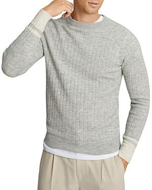 Reiss Slim Fit Ribbed Crewneck Sweater