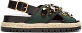 Marni Fusbett slingback neoprene and leather sandals