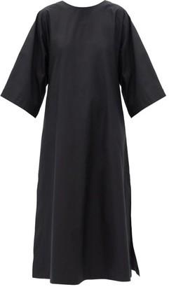 Connolly - A-line Cotton-poplin Midi Dress - Black