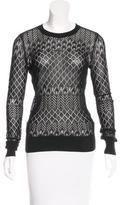 Jason Wu Silk-Blend Long Sleeve Sweater
