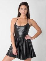 American Apparel Vegan Leather Figure Skater Dress