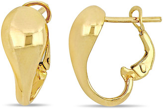 Italian Gold 18K Abstract Clip-On Earrings