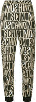 Moschino Monogram print track trousers