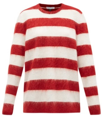Bella Freud Oversized Striped Mohair-blend Sweater - Red White