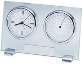 Bulova Camberley Glass/Chrome Table Clock - B2880