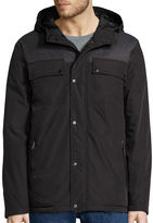 Claiborne Hooded Mixed Media Puffer Jacket